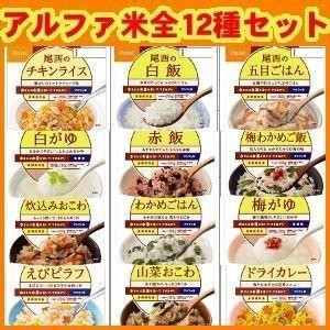 非常食 保存食 尾西 アルファ米 12種類コンプリートセット