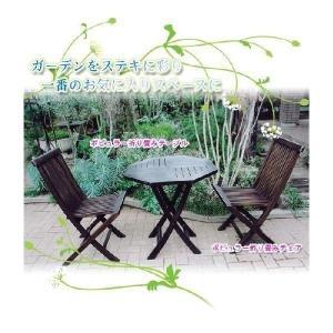 ガーデンチェア ポピュラー折り畳みチェア 木製 2脚セット ...