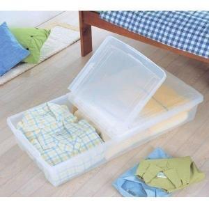 隙間収納 収納ボックス 収納ケース プラスチック 薄型ボックス ベッド下ボックス UB-950 ナチュラル アイリスオーヤマ ベッド下収納 隙間収納(あすつく)|petkan