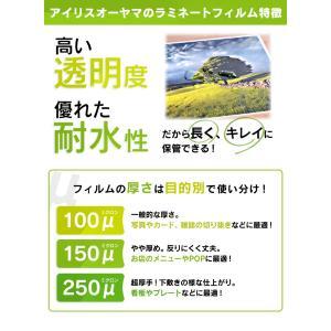 ラミネートフィルム はがきサイズ LZ-HA100 100枚入 100マイクロメーター アイリスオーヤマ|petkan|03