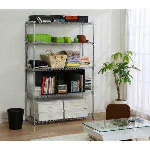 メタルラック スチールラック ラック 5段 業務用 安い  オフィス収納 本棚 家具 什器 オープンラック 幅120cm MR-1218J アイリスオーヤマ(あすつく)|petkan|05