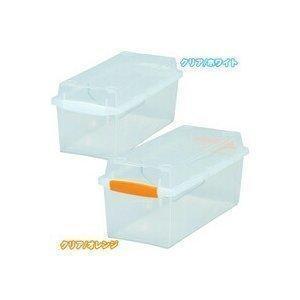 CDを最大28枚収納できるクリア収納ボックスです。CBボックスやメタルラックに収納しやすい奥行35c...