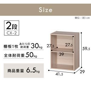 カラーボックス 2段 CX-2 アイリスオーヤマ|petkan|17