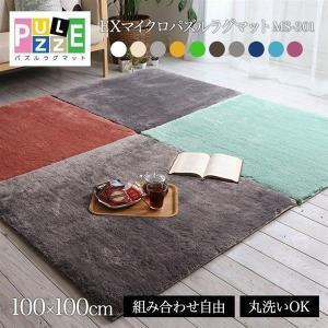 EXマイクロファイバー洗えるパズルラグマット MS301 100×100cm(ナイスデイ)(代引不可)(B) petkan