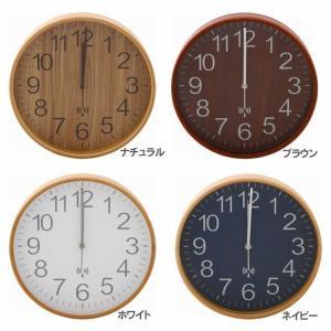 掛け時計 電波時計 プライウッド電波掛時計 2...の詳細画像1