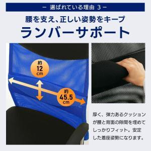 オフィスチェア 肘付 オフィス パソコンチェア 椅子 イス メッシュバックチェアハイバック メッシュバックチェアー petkan 07