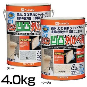 カンペハピオ 水性シリコン凹凸外カベ用 4kg petkan