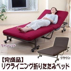 折りたたみベッド シングル MM-8WR 折り畳みベッド ベッド シングル マットレス付き 低反発折りたたみベッド 介護|petkan