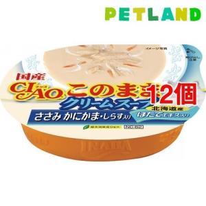 いなば チャオ このまま クリームスープ ささみ かにかま・しらす入り ( 60g*12コセット )/ チャオシリーズ(CIAO)