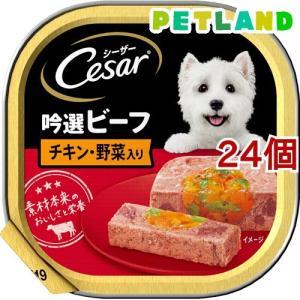 シーザー 吟選ビーフ チキン・野菜入り ( 100g*24コセット )/ シーザー(ドッグフード)(Cesar) petland