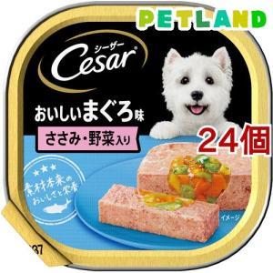 シーザー おいしいまぐろ ささみ・野菜入り ( 100g*24コセット )/ シーザー(ドッグフード)(Cesar) petland