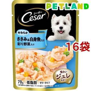 シーザー ささみ&白身魚入り 野菜入り ( 70g*16コセット )/ シーザー(ドッグフード)(Cesar) petland