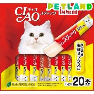チャオ スティック ささみ 海鮮ミックス味(15g^20本入) ( 15g*20本入 )/ チャオシ...