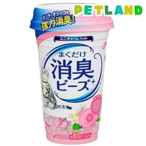猫トイレまくだけ 香り広がる消臭ビーズ ピュアフローラルの香り ( 450mL )|petland