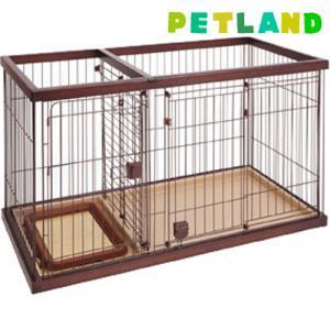 ペティオ トイレのしつけが出来る ドッグルームサークル ブラウン レギュラー ( 1台 )/ ペティオ(Petio) petland