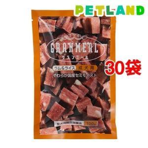 グランミール ラム&ライス 成犬用 やわらか国産セミモイスト 半生タイプ ( 100g*30コセット )/ オリジナル ペットフード