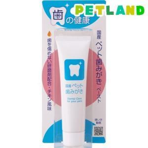 国産 ペット歯みがき ( 38g ) ( ペット 猫 犬 歯磨き デンタルケア )