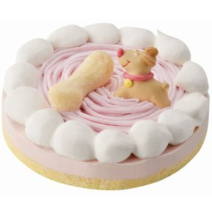 いぬ用お誕生日ケーキ ストロベリーケーキ 低カロリー・小麦粉アレルギーのワンちゃんも安心の上新粉使用! イヌ・犬用バースデーケーキ。