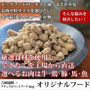 吉岡油糧オリジナルフード <1kg袋:7mm・フレーク> <ステージ:パピー・アダルト・シニア> <選べるお肉:牛肉・鶏肉・豚肉・馬肉・魚>|petnext|02