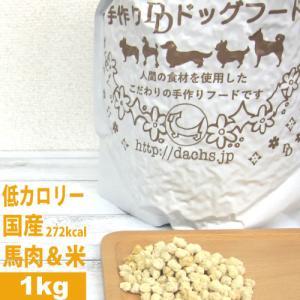 銀座ダックスダックス DD ホームメイドドッグフード 馬肉フード(馬肉/米) 粒タイプ 1kg|petnext