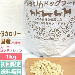 ドッグフード 低カロリー 国産 銀座ダックスダックス スーパーコンディション 1kg 全犬種対応 初...