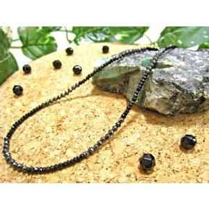 デザインネックレス(ブラックスピネル,ヘマタイト) 天然石 パワーストーン ブラックスピネル ヘマタイト メンズ レディース  petora