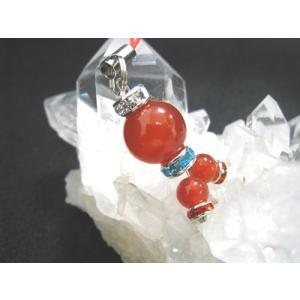 タコ たこ 蛸 ストラップ 天然石 パワーストーン カーネリアン 赤めのう  明石 パパたこ 水晶チップ|petora
