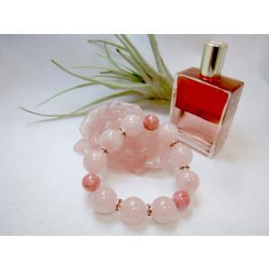 特価!! ブレスレット インカローズ(ロードクロサイト)  ローズクォーツ  天然石 パワーストーン 赤ピンクがかわいい |petora