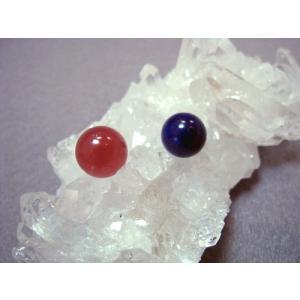 インカローズ(ロードクロサイト)、 ラピスラズリ(12月の誕生石) 天然石 パワーストーン 10ミリ玉 穴なし お得2個セット かご型ペントップなどに|petora