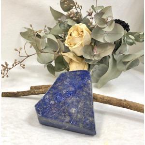 ラピスラズリ 天然石 パワーストーン 丸玉 約42ミリ 12月の誕生石 良質、希少  魔除け 厄除け 成功の石 きれいな群青色 アクリル台付き|petora