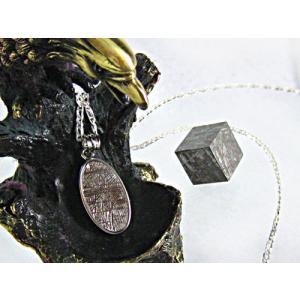 ペンダントトップ(メテオライト) 天然石 パワーストーン 鉄隕石 ギベオン シルバー メンズ レディ...