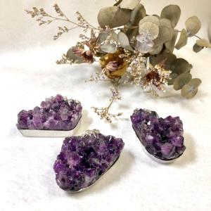 アメジスト 原石 ペンダントトップ クラスター ペンダント Lサイズ 天然石 パワーストーン ウルグアイ産 紫水晶 2月誕生石 petora