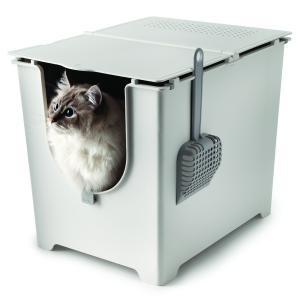 猫用トイレ モデキャット modkat フリップ リターボックス 全2カラー ( オフホワイト グレー ) petrry