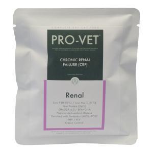 PRO-VET RENALは、腎不全を患う成猫の健康維持と必要な栄養素の供給を目的として開発されまし...