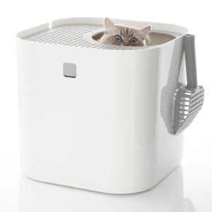 猫用トイレ modkat モデキャット リターボックス 全3カラー ( ホワイト オレンジ グレー ) petrry