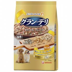 ユニチャーム グラン・デリ カリカリ仕立て 成犬用 味わいチーズ入り セレクト  700g|petslove