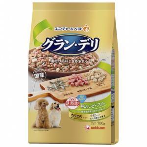 ユニチャーム グラン・デリ カリカリ仕立て 成犬用 低脂肪 味わいビーフ入りセレクト 〜脂肪分約25%カット〜 700g|petslove