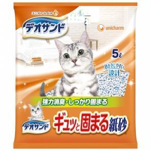 (まとめ買い)デオサンド ギュッと固まる紙砂 5L ×6袋|petslove