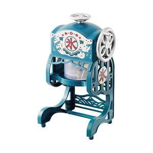 電動 かき氷 かき氷機  かき氷機 電動本格ふわふわ 氷かき器 ドウシシャ製 ブルー かき氷器 製氷カップ2個  DCSP-1851|petslove