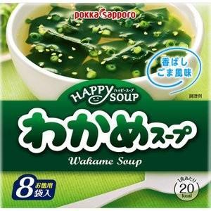 ポッカサッポロ ハッピースープ 徳用わかめスープ 8袋|petslove