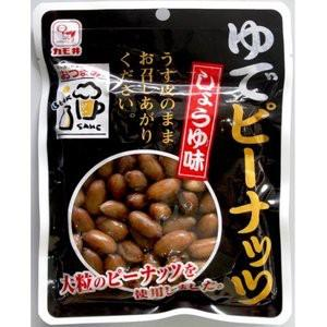 カモ井食品工業 ゆでピーナッツしょうゆ味 100G|ペッツ ラブ PayPayモール店