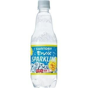 サントリー 南アルプスの天然水 スパークリングレモン  500m lペットボトル
