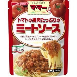 マ・マー たっぷりパスタソース トマトの果肉たっぷりミートソース 260g|petslove