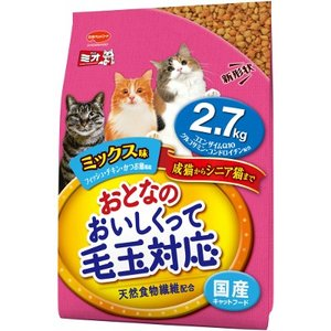 安心の国産ミオおとなのおいしくって毛玉対応 ミックス味 2.7kg|petslove