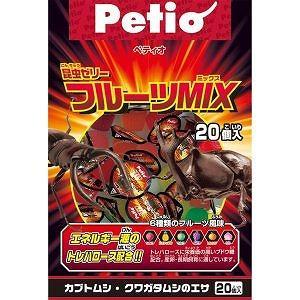 ペティオ 昆虫ゼリー フルーツMIX 20個入|petslove