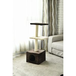 猫猫タワー 大人気 キャットタワー ショートタイプ ペットタワー 3段 当店オリジナル インテリア 組み立て簡単|petslove
