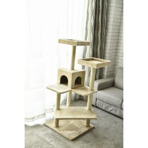 猫タワー 大人気 キャットタワー  4段タイプ  ZJS15640 飽きの来ない機能  ペッツラブ 当店オリジナル インテリア 組み立て簡単 petslove