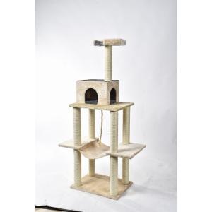 猫タワー 大人気 キャットタワー YS89317-1 3段タイプ ハンモック付き   飽きの来ない機能  ペッツラブ 当店オリジナル インテリア 組み立て簡単|petslove
