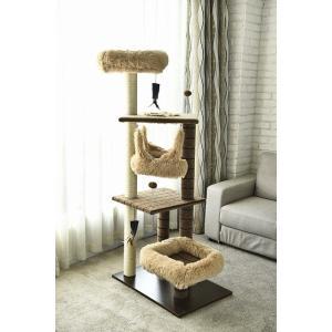 猫タワー 大人気 キャットタワー YS93160 4段タイプ ハンモック付き   飽きの来ない機能  ペッツラブ 当店オリジナル インテリア 組み立て簡単|petslove