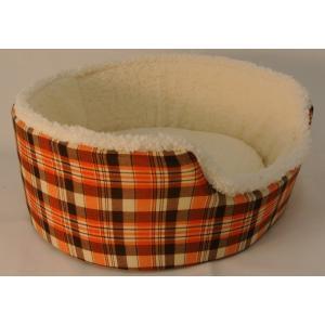 ペットあったかベッド ペットベッド キャットベッド ドッグベッド  吸湿発熱ペットベッド  チェックオレンジ L  Pet's Love オリジナル 犬 猫|petslove